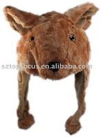 HOTSALE PLUSH ANIMAL HAT KANGAROO FANCY DRESS COSTUME ANIMAL CAP AND HATS