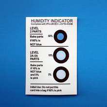 Cobalt Free Humidity Indicator Card, Paper, Sheet, Label, Sticker(HIC)