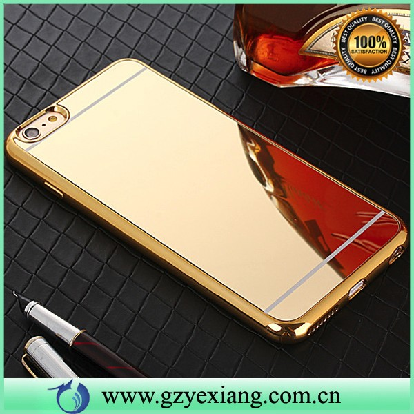 most selling items electroplate tpu back case cover for nokia xl mirror case