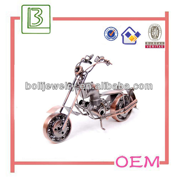 china supplier motorbike shape metal craft for souvenirs