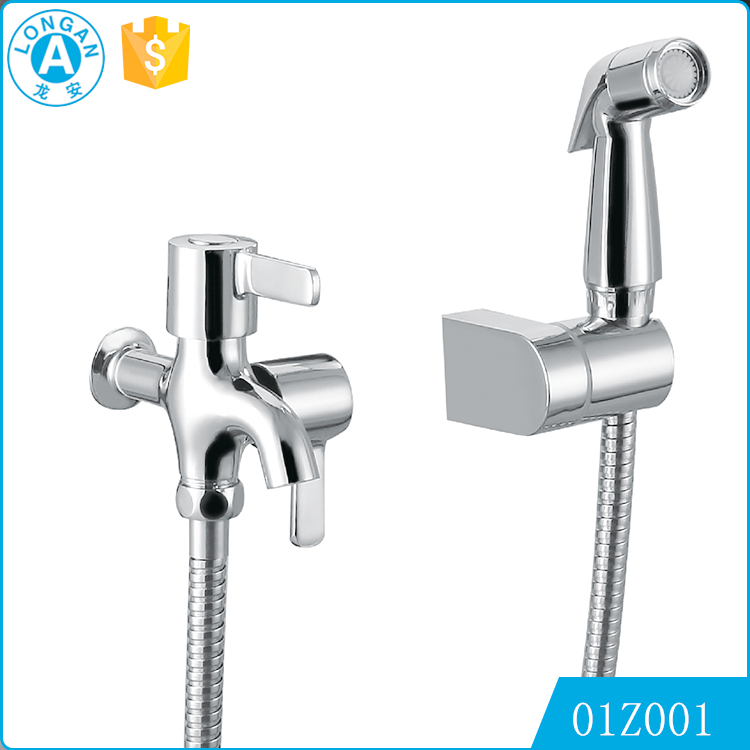 2016 Brand New Design european Chrome Plating Hot and cold water wall mounted Handheld bidet bathroom faucet