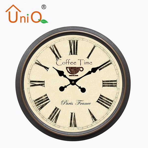 Beautiful classic metal art table alarm clock