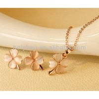 2014 wholesale fashion necklace set jewelry, charming bright acrylic flower pendant necklace and earrings jewelry set
