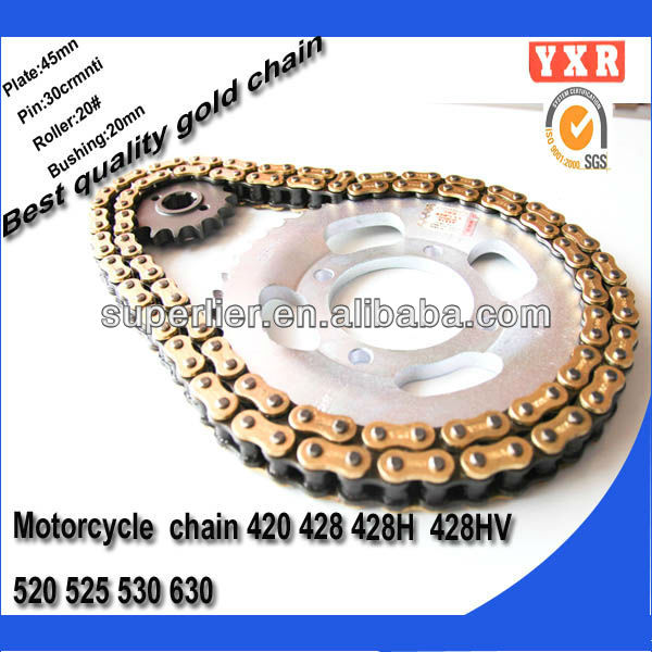 Motorcycle parts chain sprocket,factory motorcycle transmissions,new product motorcycle chain drive