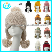 2013 wholesale fashion wool felt men and warm knitted cap winter hatknitted beanie hat