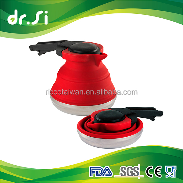 Non-toxic Foldable Heat Resistant Food Grade Silicone Tea Kettle