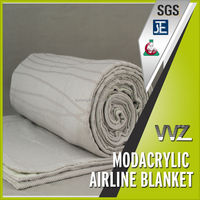 Modacrylic flame retardant airline blanket (travel blanket) double sides blanket (back fabric is cotton)