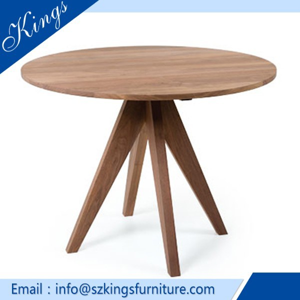 New Design Contemporary Oval Solid Wood Dining Table