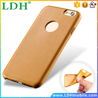 Ultra thin Slim Light Soft TPU Leather Case for Apple iphone 6 Plus 5.5 Logo Hole Luxury Back Cover Imitate Cool Gold