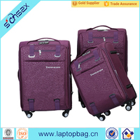 Fashion light weight trolley bag wheeled travel bag