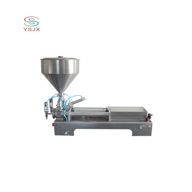 Packaging equipment dual heads piston filler margarine filling machine with hopper