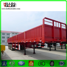 CCC certificate approved 3 axles side wall truck trailers/high bed semi-trailer with side walls/bulk cargo
