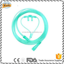Disposable breathing nasal oxygen catheter/nasal oxygen cannula for surgical