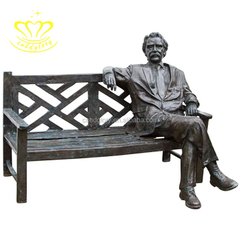 Most popular New product garden business decoration man sat in chair statues
