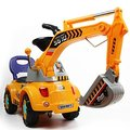 Digger scooter, Ride-on excavator, Pulling cart, Pretend play construction truck (color may vary)
