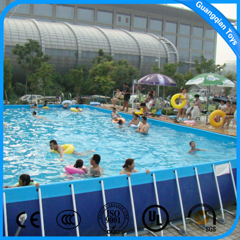 Hot Quality Large Size Metal Frame Above Ground Swimming Pool