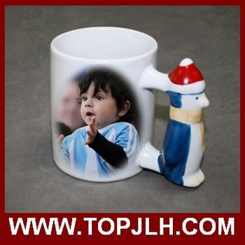 Cute Penguin Mug Sublimation porcelain mug