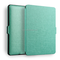 Auto sleep/wake function smart leather case tablet cover for kindle paperwhite 1 2 3