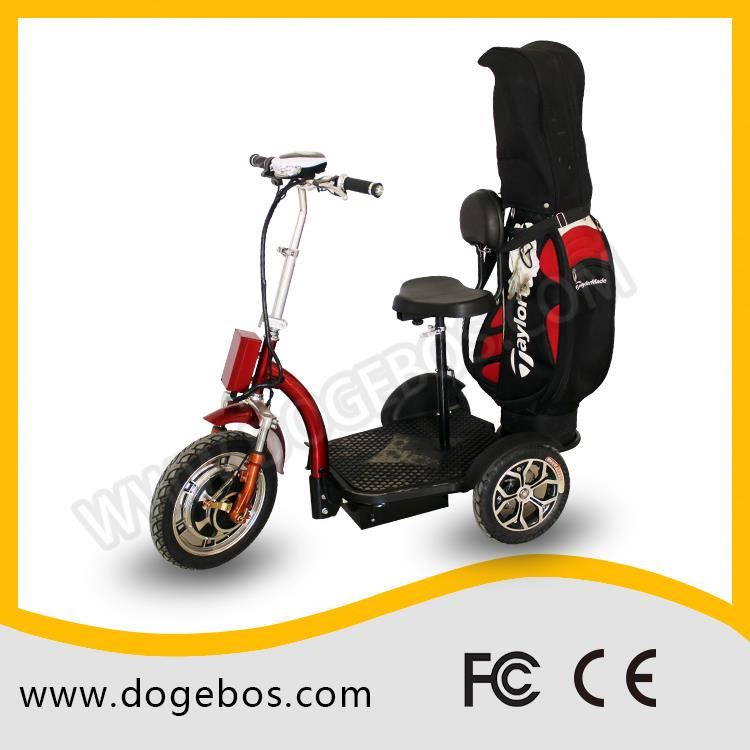 Ml-302 golf customized lead/lithium 200mm trike scooter with detached seat