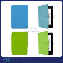 High quality slim flip magnetic leather case cover for Kindle Paperwhite