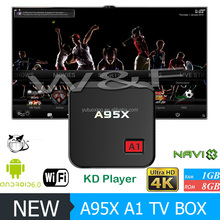 2GB RAM+16GB ROM NEXBOX A95X Smart TV Box Amlogic S905X Quad Core 64 Bit Android 6.0 4Kx2K 2.4GHz WiFi Media Player Set Top Box