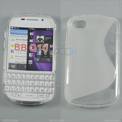 gently S Curve TPU Case for Blackberry Q10 P-BBQ10TPU001