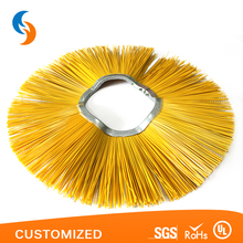 Custom wafer brush in cleaning equipment parts