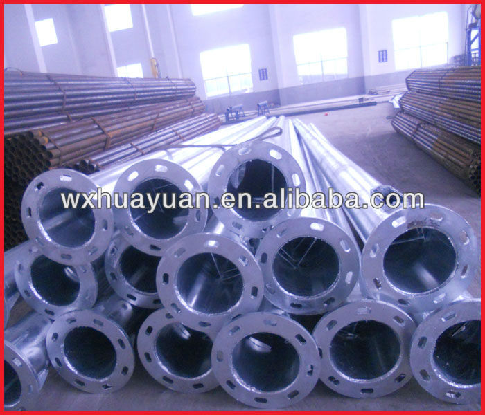 Zinc plating steel pillar