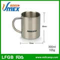 Outdoor cookware stainless steel coffee tea cup set