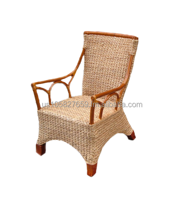 Montego Bay Rattan/Wood/Seagrass Captain's Chairs