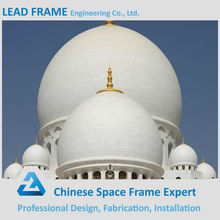 Famous Lightweight steel prefabricated mosque with dome structure