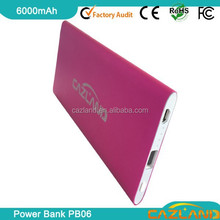 promotional gift 6000mah portable power bank charger lipstick design/li-polymer battery power bank/ultra slim power bank