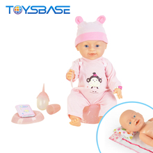 2018 New Toys Lovely 16 Inch Crying Peeing Silicone Reborn Baby Doll