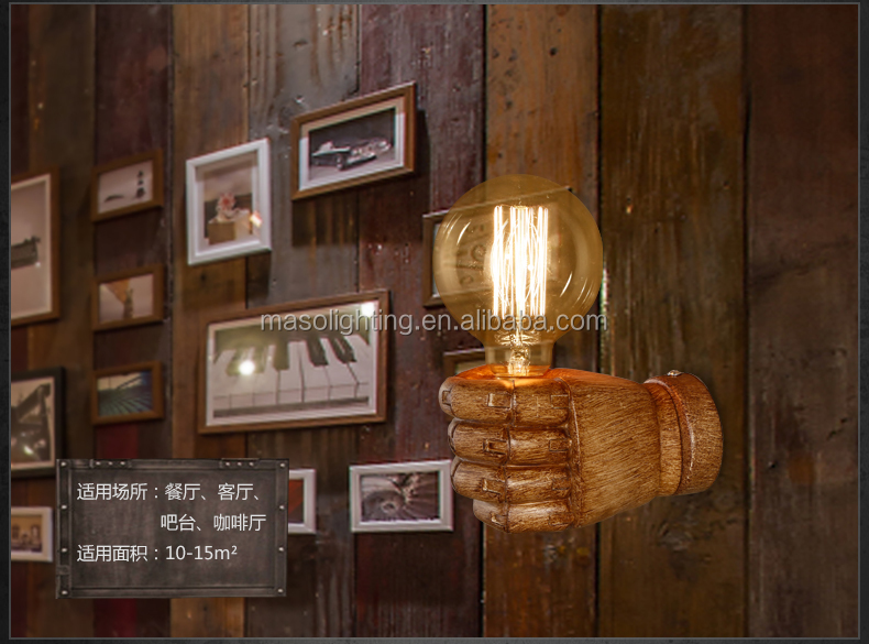 Vintage Retro Loft Resin Wall Lamp for Industrial Zone office coffee shop bar Home designed Edison energy saving LED wall lamp