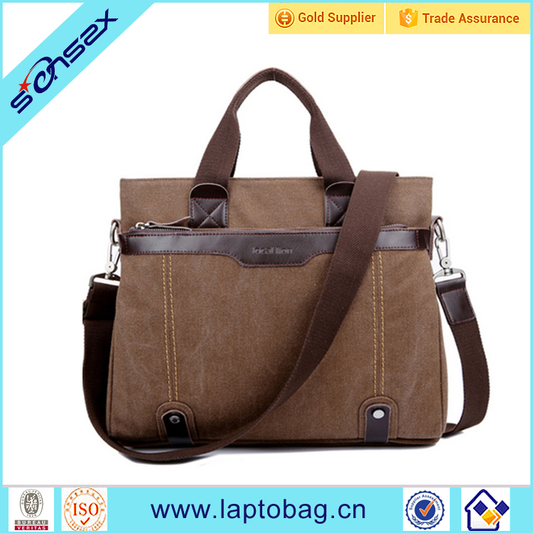 China factory manufacturer high quality vintage waxed canvas mens messenger bag
