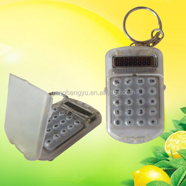 Wholesale High Quality 8 Digits Pocket Flip Electronic Calculator With KeyChain