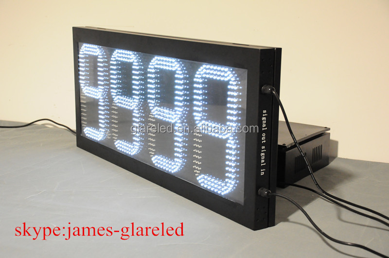 88.88 or 8.889/10 white color 8-42 inch led gas price changer outdoor full waterproof