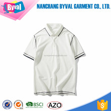 alibaba china online shopping custom embroidery polo collar t shirt 180g blank white polo shirt design wholesale black OEM