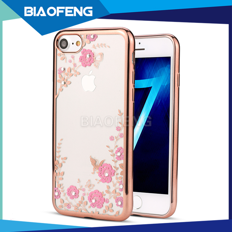 For Iphone 6,7 tpu electroplate case beautiful secret garden mobile smart phone case back cover case for girl