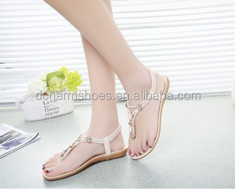Hot Selling China factory high quality pvc eva new modern no heel sandals