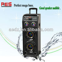 Portable Battery Powered Speaker With Luggage Trolley