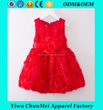children boutique fluffy frilly red frock design girl dress