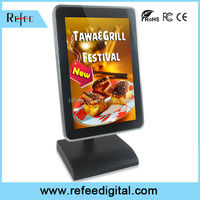 Top class small touch screen monitor, advertising display for supermarket, monitor media player