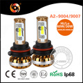 Super bright led car light 9004 9007 30W 3200lm 60W 4900lm IP68 6000K 8000K COB chip high canbus led headlamp for car