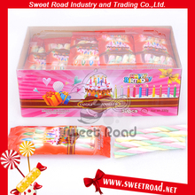 Fruit Flavor Candle Long Stick Twist Marshmallow in Display box