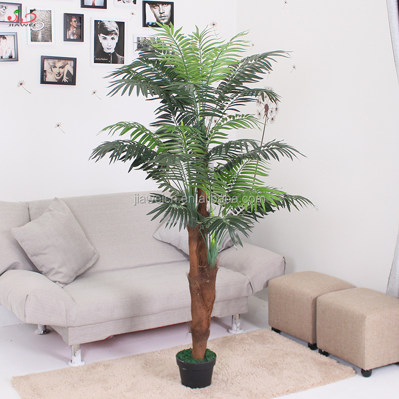 China fatcory high quality indoor artificial palm bonsai tree tops for sale