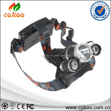 Hot!! LED Head Torch 3x XM-L L2 6000 Lm Rechargeable flashlight3 L2 Outdoor Headlight linterna frontal+ 18650 battery /Charger