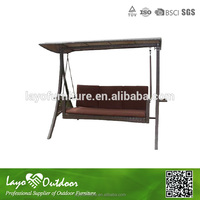 ISO9001 certification safe and durable swing two seat patio swing