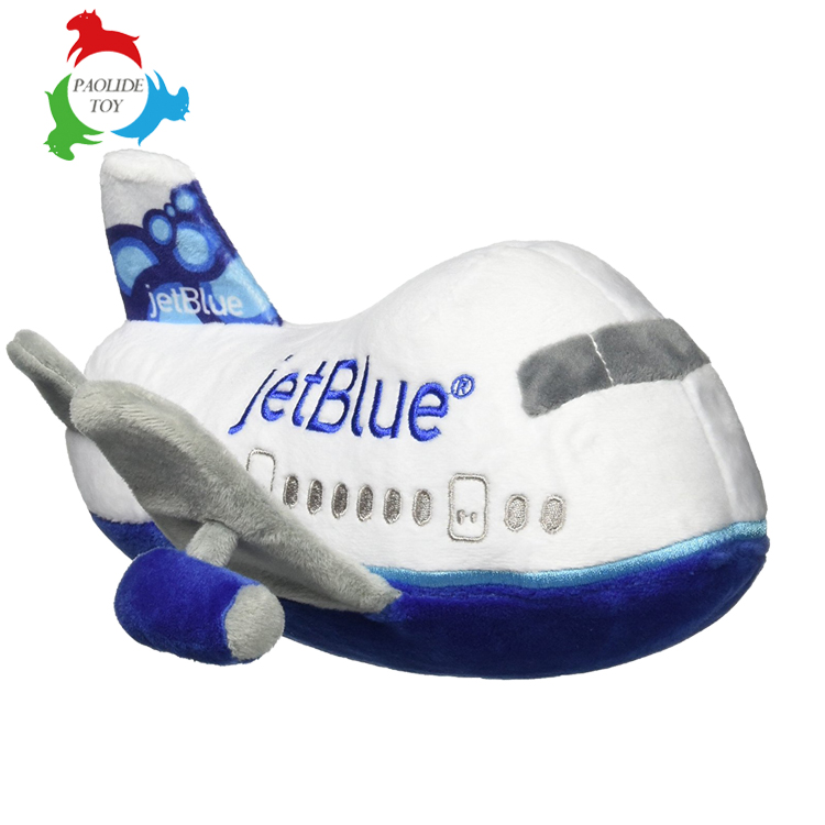 china factory custom soft stuffed for airline mascot plush toy plane