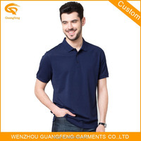 Custom Men's Cotton Blank Polo T Shirt With Collar